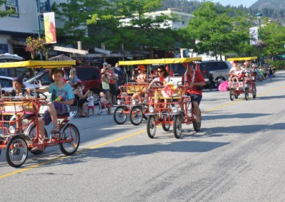 Canopy Bikes in Parade